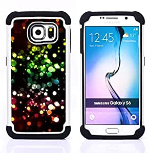 For Samsung Galaxy S6 G9200 - vibrant ring circle black pink Dual Layer caso de Shell HUELGA Impacto pata de cabra con im??genes gr??ficas Steam - Funny Shop -