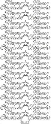 Elizabeth Craft Designs Merry Christmas Peel-Off Stickers, Silver (Merry Christmas Crafts)