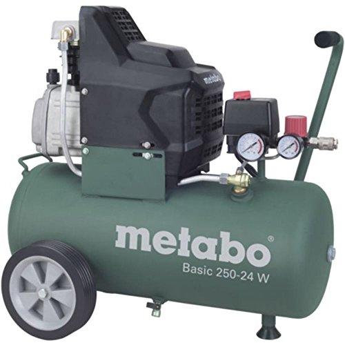 METABO Kompressor Basic 250-24 W fahrbare Druckluftanlage, direktgetrieben Motor-Leistungsaufnahme 1