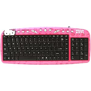 hello kitty keyboard usb computers accessories. Black Bedroom Furniture Sets. Home Design Ideas