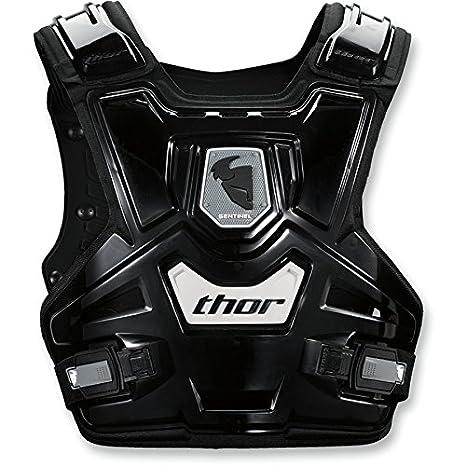 Thor - Protettore pettorale moto per bambini Sentinel gilet di protezione corazzato per Motocross Fuoristrada Enduro Cross Quad Nero Bianco 2701-0782-GM