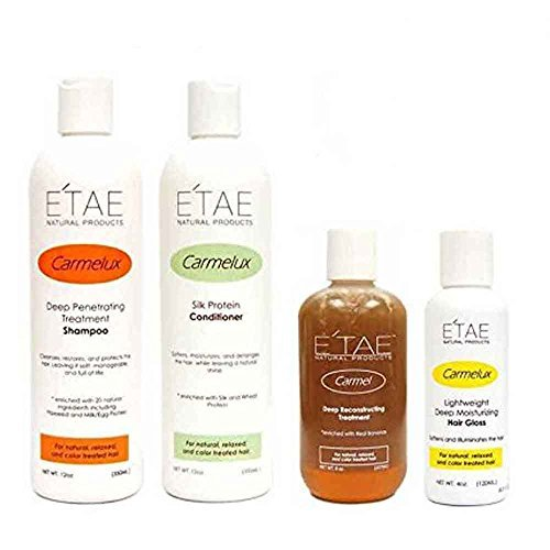 Etae Natural Products Carmelux Shampoo Conditioner Gloss E'tae Carmel Treatment Combo Kit by E'TAE Natural Products