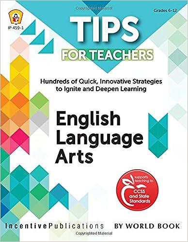 English Language Arts: Tips for Teachers