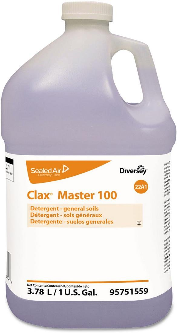 Johnson Diversey 95751559 Clax Master 100, Liquid, Unscented, 4/carton by JohnsonDiversey (Image #1)