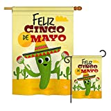 Ornament Collection S192058-BO Feliz Cinco de Mayo Country & Primitive Southwest Impressions Decorative Vertical House 28″ X 40″ Garden 13″ X 18.5″ Double Sided Flags Set Printed in USA Multi-Color