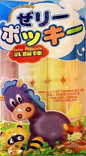 乳酸棒 Ice Freezer Pops Fat free Assorted Flavor (10 pops) 30 oz, (Pack of (30 Assorted Flavors)
