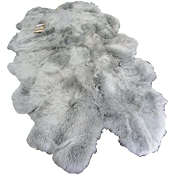 Amazon Com Windward Natural Sheepskin Area Rug Grey