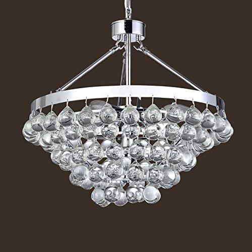 Saint Mossi Modern K9 Crystal Raindrop Chandelier Lighting Flush mount LED Ceiling Light Fixture Pendant Lamp for Dining Room Bathroom Bedroom Livingroom Umbrella-shaped 4 E12 Bulbs Required H39 X D18 by Saint Mossi