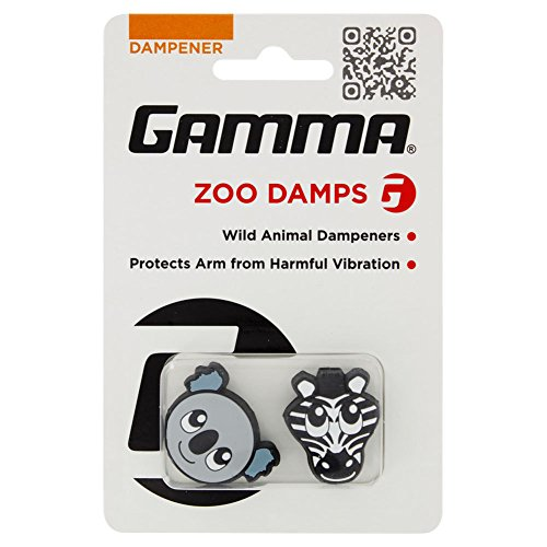 Gamma Sports Zoo Damps Vibration Dampeners(2-Pack) – Koala/Zebra