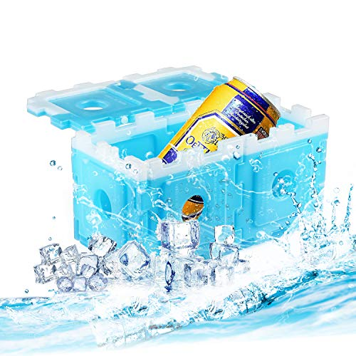 OICEPACK Ice Packs for Lunch Box Blue, Coolers Reusable Ice Pack, Freezer Ice Packs for Coolers, Small Ice Pack Long Lasting, Stay Cold Camping Cooler Ice Pack (10 Pack) ()