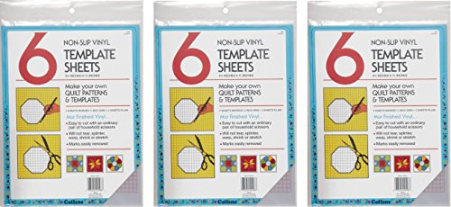 Collins COL198 6 Count Non Slip Vinyl Template Sheet, 8.5 x 11'' (3 Pack) by Collins