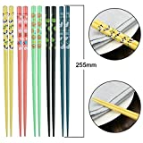 Chopsticks, AOOSY 5 Pairs Japanese Natural Wood Chopstick Set with Case Value Gift