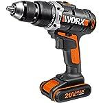 Worx WX372.1 Hammer Drill 1 batteria agli ioni di litio 20V-2,0Ah