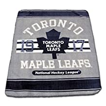 Nemcor Toronto Maple Leafs NHL Classique Fan Navy/Grey Throw Blanket