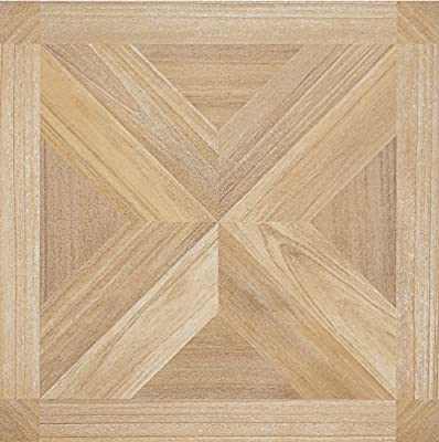 "Achim Home Furnishings FTVWD22820 Self Adhesive Nexus Vinyl Tile (Pack of 20), 12"", Maple X Parquet"