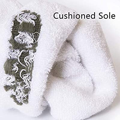 +MD Womens 6 Pack Smell-resistant Moisture Wicking Bamboo Crew Socks with Cushioned Sole, Made in USA White9-11 at Amazon Women's Clothing store