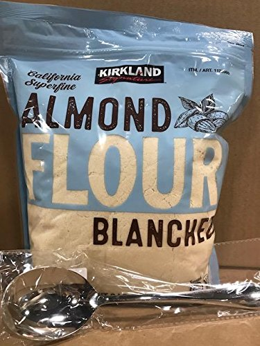 Kirkland Signature California Superfine Almond Flour 3LB With FREE Stainless Steel Spoon By KC Commerce (Pack of 1)