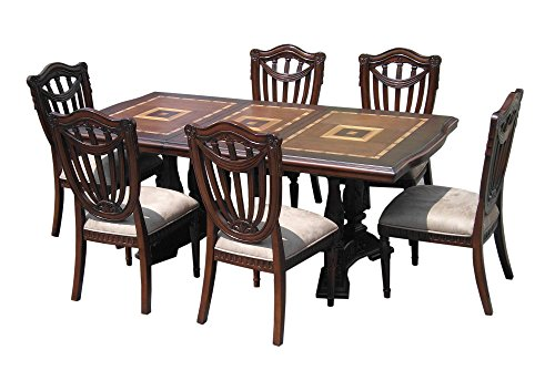 D-ART Sheraton Ext. Dining Set 7pcs - in Mahogany Wood