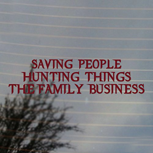 Hunting The Family Business Paranormal Television Vinyl Decal (Merlot ()