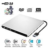 External DVD CD Drive USB 3.0 Burner Writer Drive Player for Laptop/ Desktop / Macbook / Mac OS / Windows10 /8/ 7 / XP / Vista