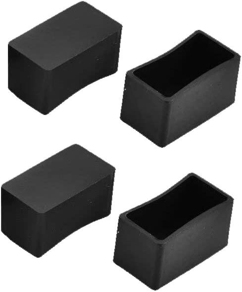"Flyshop 8Pcs Chair Leg Caps Feet Pads Rubber Tips Floor Protectors Rectangle Furniture Table Covers 1"" X 2"""