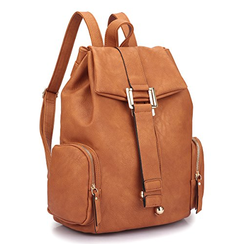 Brown Faux Leather Backpack: Amazon.com