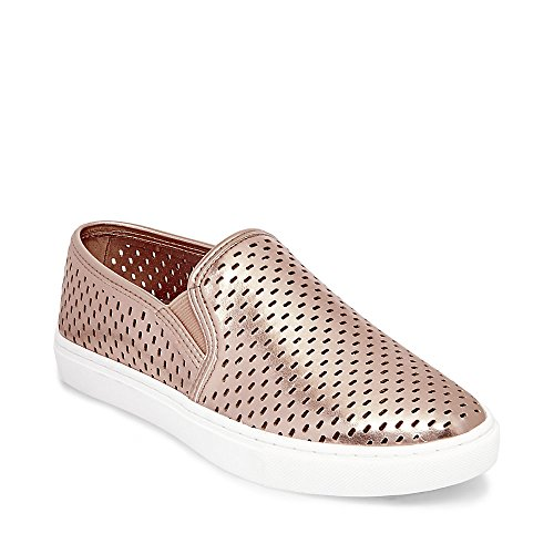 Steve Madden Women's Elouise Fashion Sneaker, Rose Gold, 6 M US