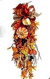 Fall harvest teardrop swag, autumn front door wreath, fall décor, harvest door decorations