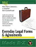Everyday Legal Forms and Agreements, Made E-Z Products Staff, 1563825260