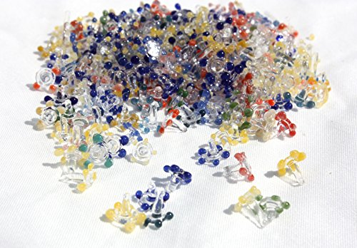 200-PIECE Aura Daisy Flowers Glass Screens 6-9mm -