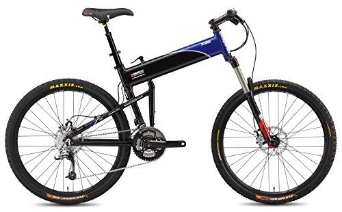 2015 Montague 18-Inch SwissBike X90 Folding Bike, Black/Blue