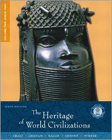 Amazon Com The Heritage Of World Civilizations Volume 2 Since 1500 6th Edition 9780130988119 Craig Albert M Graham William A Kagan Donald M Ozment Steven Turner Frank M Kagan Donald Books