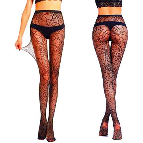 (Black Mesh Fishnet Pantyhose Stockings Spider Web Tight Socks Halloween Witch Fancy Dress Costume)