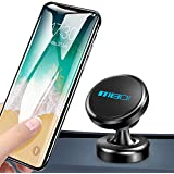 MEIDI Magnetic Phone Car Mount, Universal 360°Rotation Dashboard Cell Phone Mount Compatible iPhone X / 8/7 / 6/5 Galaxy S8 / S7 / S6, GPS, Light Tablets More (Black)