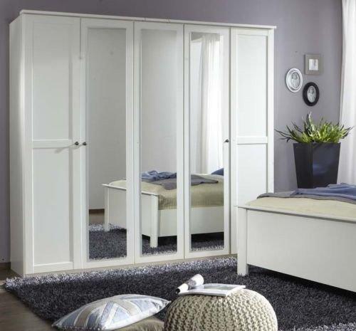 Germanica HANOVER Bedroom Furniture 5 Door Wardrobe in WHITE Colour ...