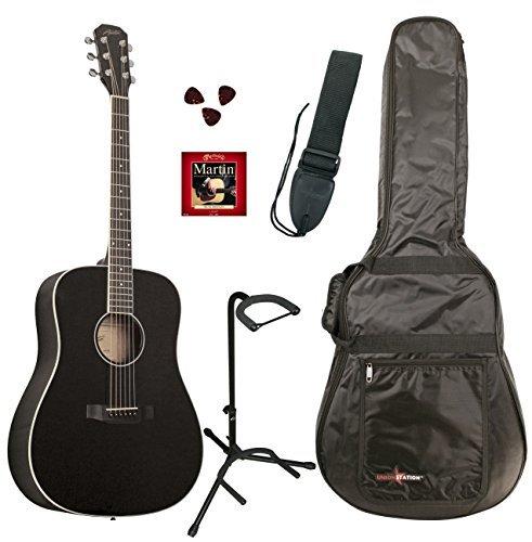 Austin Guitars AA25-DBKPKD Dreadnought Acoustic Guitar Pack Black [並行輸入品]   B07FS6QH5K