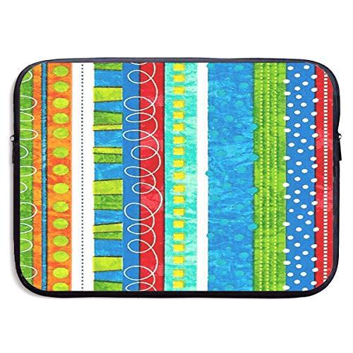 NpA80Hc Bug's Life Funky Stripe Multifunctional Sleeve Briefcase Handbag Case Cover Compatible 13-15 Inch Laptop, Notebook, MacBook Air/Pro