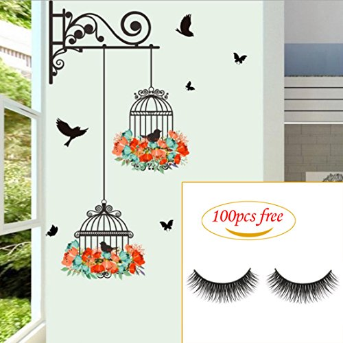 Plane Wall Sticker, Fheaven Waterproof Environmental Protection Birdcage Decorative Painting Bedroom Living room TV Wall Decoration Wall Stickers Mural 56X76cm - Decorative Wall Murals