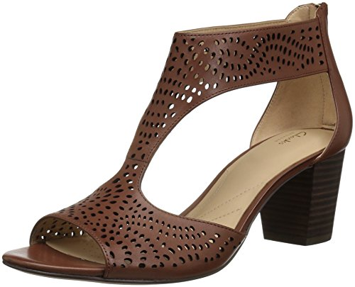 CLARKS Womens deloria Liv Pump Mahogany Leather