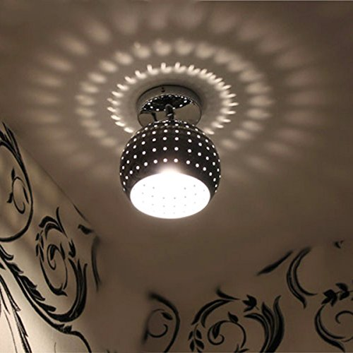 ZEEFO Mini Led Ceiling Light, Energy Saving Dome Lamp, Chrome Finish Flush Mounted Lighting Chandeliers for Aisle, Hallway, Bathroom, Living Room, Kitchen, Bedroom, Hotel, Warehouses, Hallway, Office - Crystal Dome Flush