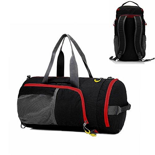 UBAYMAX Gym Duffel Bag Waterproof, Foldable 3in1 Sports Tote Messenger Backpack