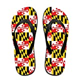 Maryland State Flag Cool Flip Flops For Children Adults Men And Women Beach Sandals Pool Party Slippers