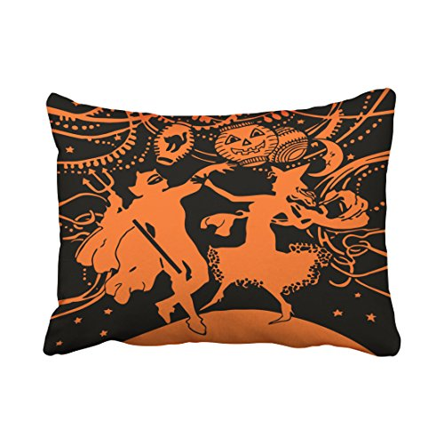 Accrocn Vintage Halloween Dancing Costume Party Throw Pillow Covers Cushion Cover Case 20X26 Inches Pillowcases One (Do It Yourself Couple Costumes)