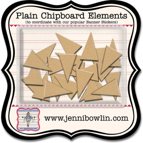Jenni Bowlin Studio Plain Chipboard Elements: Banner (Chipboard Elements Banner)