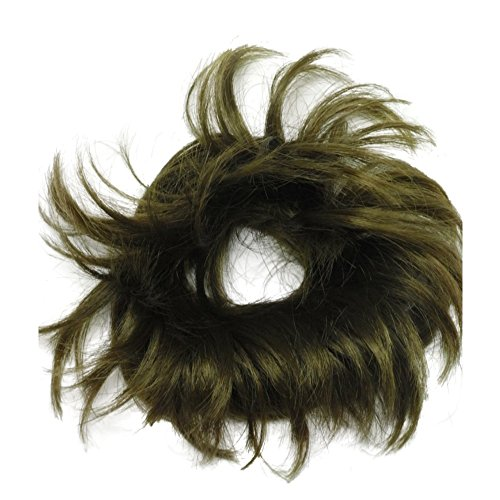 Put On Synthetic Hair Piece Extension Wrap Scrunchie Bobble Band - 32BRD Rich Brown