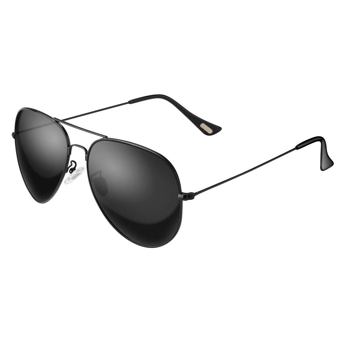 606fe1048e80 Amazon.com  Polarized Aviator Sunglasses for Men and Women Oversized  Mirrored Sun Glasses UV400 Protection  Clothing