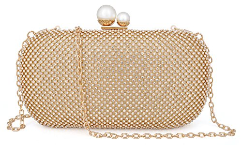 Luxury Gold Crystal Rhinestone Clutch Evening Mossmon Women Bag qUEvpw00x