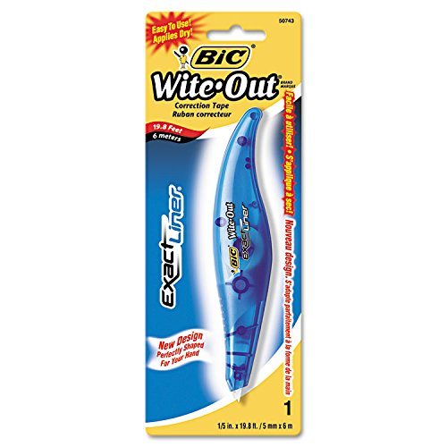 Wite-Out Exact Liner Correction Tape Pen, Non-Refillable, 1/5'' x 236'', Total 36 EA, Sold as 1 Carton