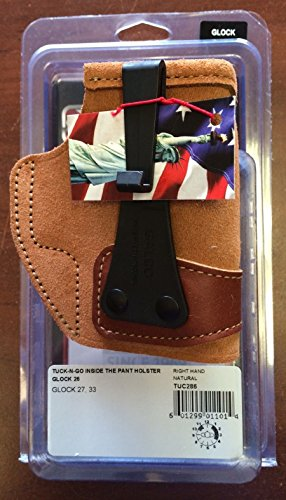 Galco Tuck-N-Go Inside The Pant Holster for Glock 26, 27, 33 (Natural, Right-hand) (Pants Galco Holster Inside The)