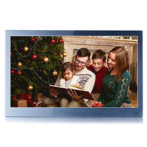KSD 12 inch Hi-Res(IPS 1920x1080) Metallic Digital Photo Frame(12,Grey)